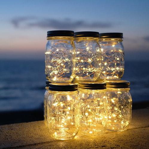 Rose Gold Wire Mason Jar Lights