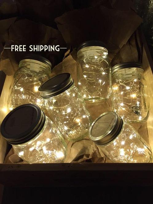 Silver Wire Mason Jar Lights