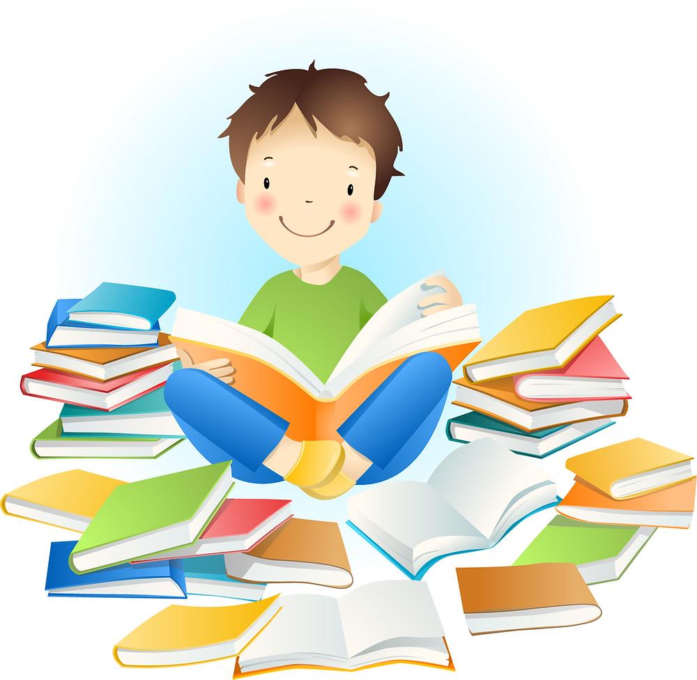boy reading, reading, Paolini Method