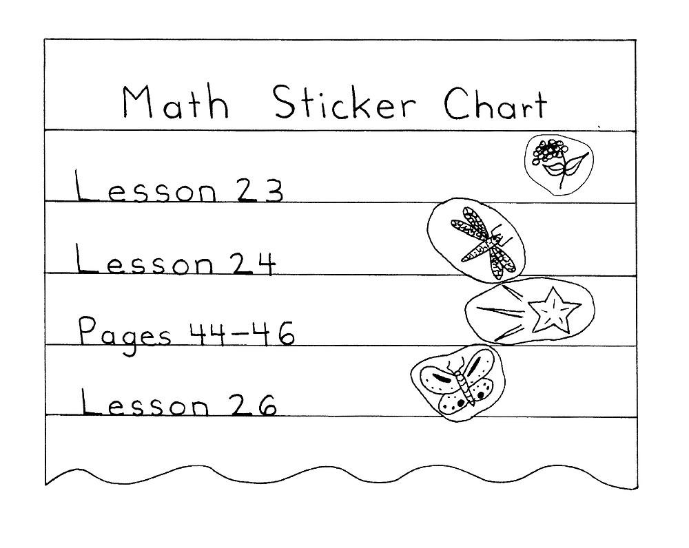 make a sticker chart, 14 ways to make math fun