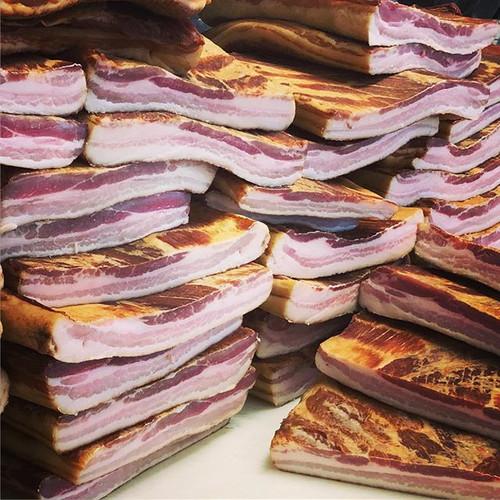 Homemade Hickory Smoked Bacon for days!!