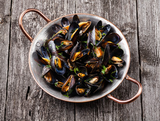 Roasted Mussels with Pernod-Garlic Butter
