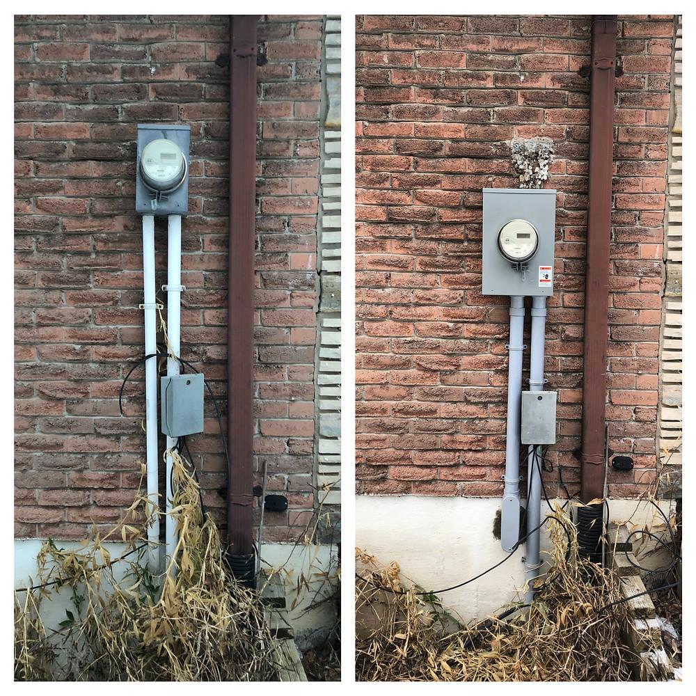 Dangerous wiring in Oshawa