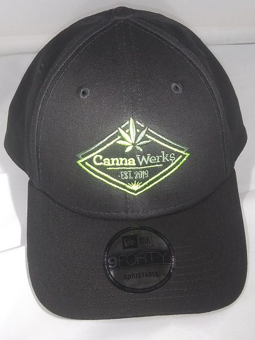 Black Velcro Back Ball Cap