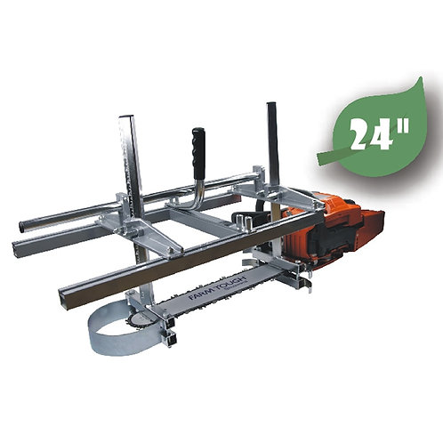 Farmertec 24 Inch Portable Chainsaw Mill Planking Milling From 14'' to 24''