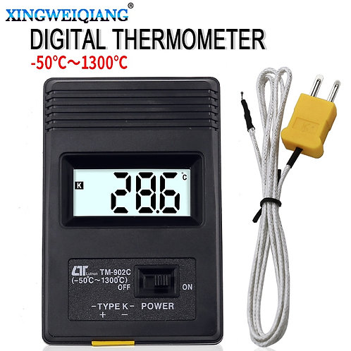 (-50c to 1300C) Temperature Digital K Type Sensor+Thermocouple Probe