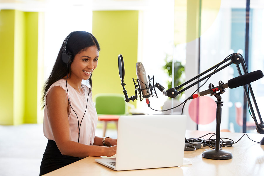 young-mixed-race-woman-recording-a-podca