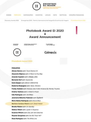 EI Photobook Award 2020 - shortlisted