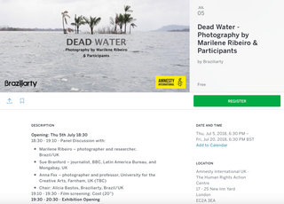 Discussion panel on Dead Water Amnesty International 5th July 2018 