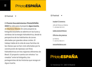 PHotoEspaña 2020 Discoveries Award