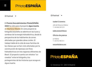 PHotoEspaña 2020 - Discoveries Prize
