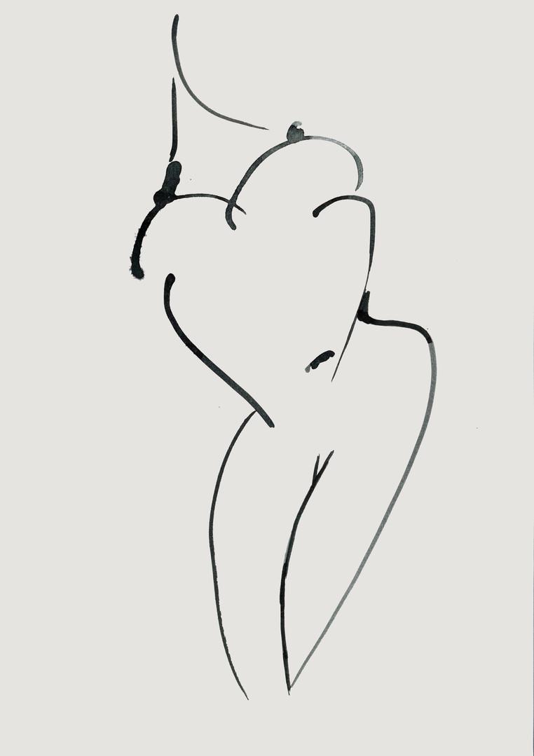 Nude#35_2019_pen on paper_21.0 x 29.7cm.