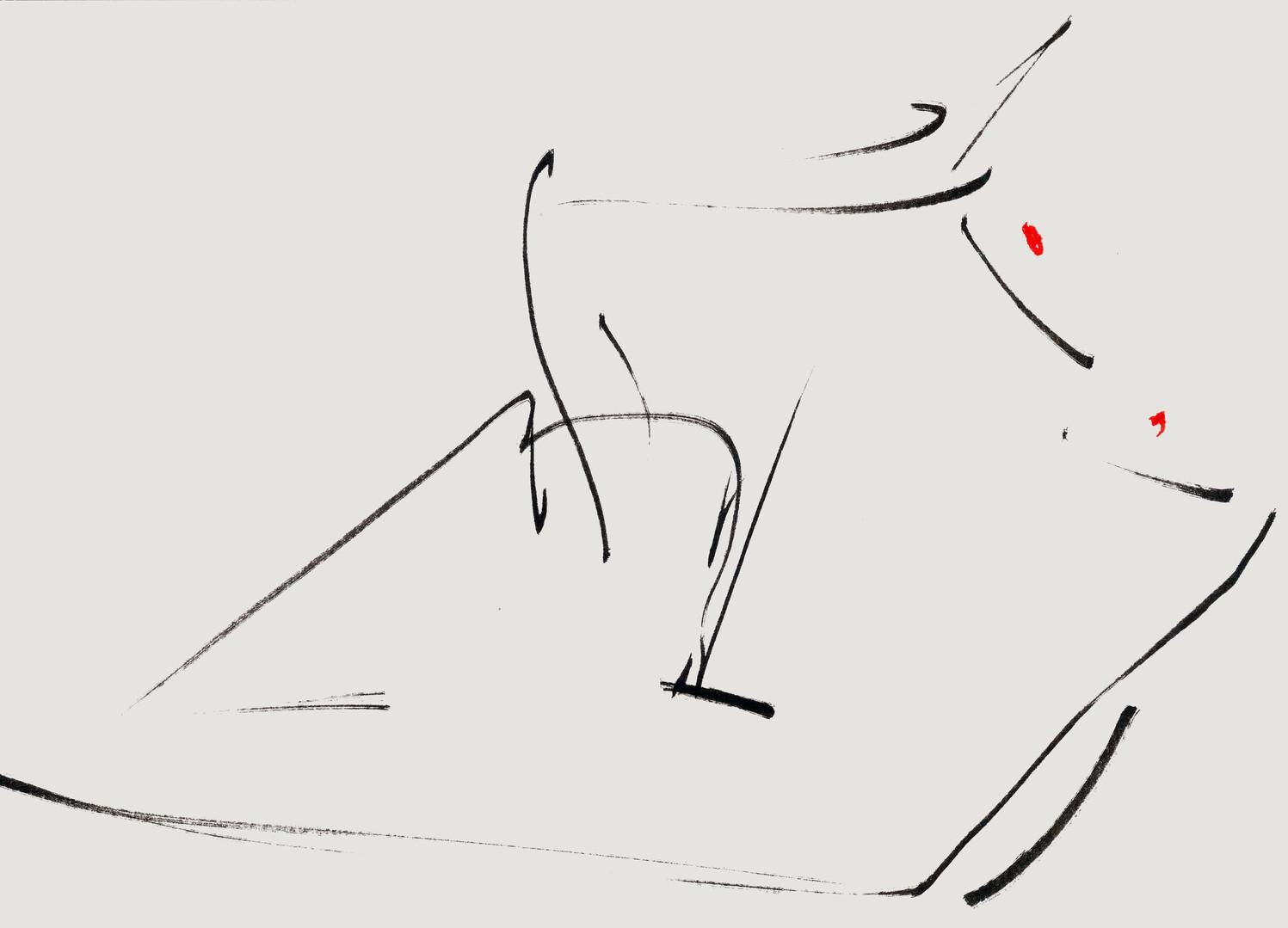 Nude#33_2019_pen on paper_21.0 x 29.7cm.