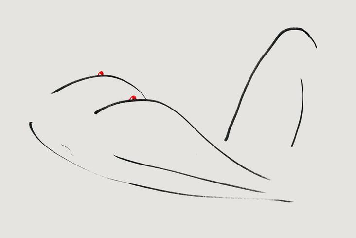 Nude#10_2019_pen on paper_21.0 x 29.7cm.