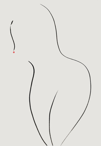 Nude#9_2019_pen on paper_21.0 x 29.7cm..