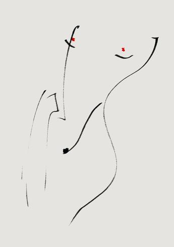 Nude#37_2019_pen on paper_21.0 x 29.7cm.