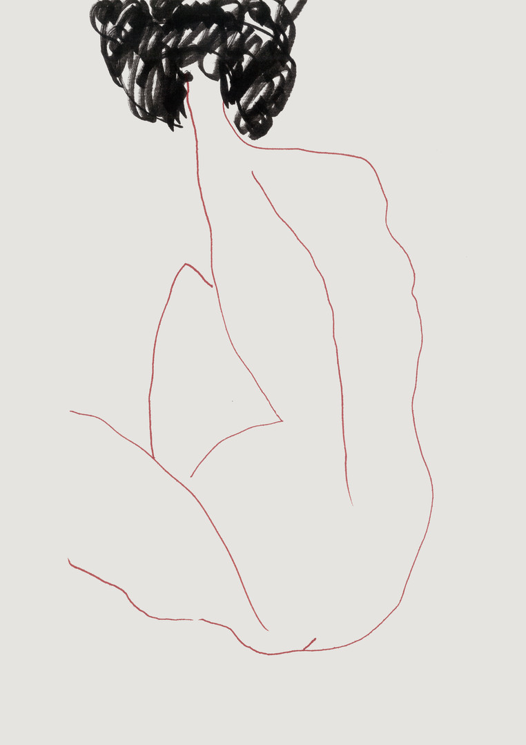 Nude#25_2019_pen on paper_21.0 x 29.7cm.