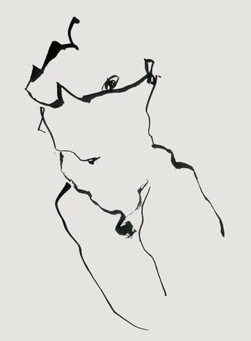 Nude#31_2019_pen on paper_21.0 x 29.7cm.