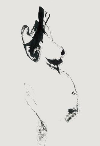 Nude#24_2019_pen on paper_21.0 x 29.7cm.