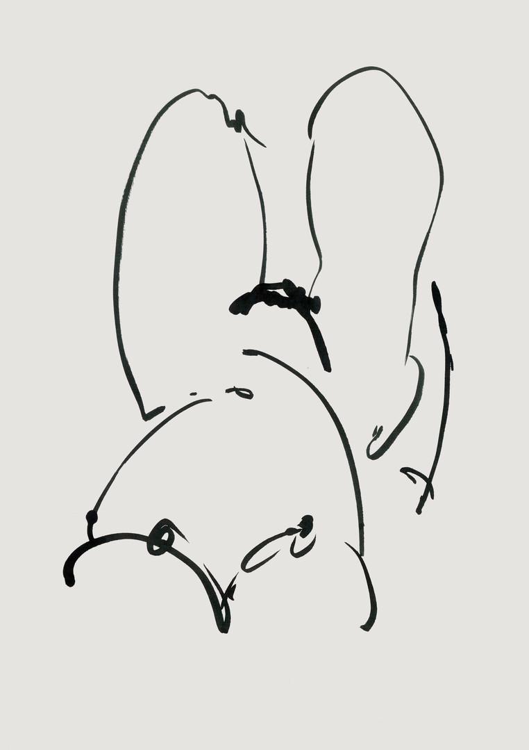 Nude#39_2019_pen on paper_21.0 x 29.7cm.