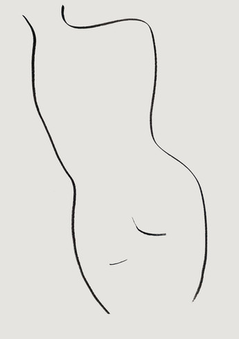 Nude#42_2019_pen on paper_21.0 x 29.7cm.