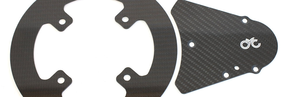 Carbon chain guard with front chain guard