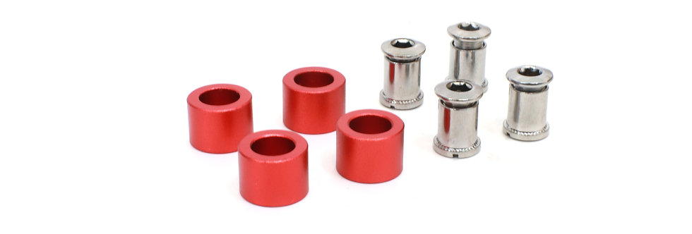 Bolts and spacers kit for chainring without carbon chain guard