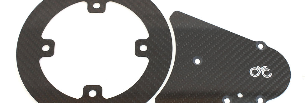 Carbon chain guard with front chain guard (For 11/63 version)