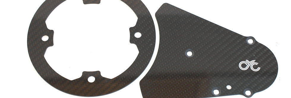 Carbon chain guard with front chain guard (For 11/53 version)