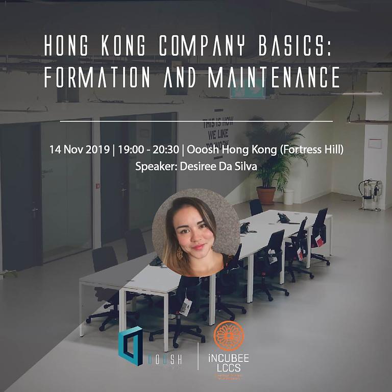 Hong Kong Company Basics: Formation and Maintenance