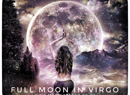 Virgo Full Moon - Monday 9th 17.47 UK Time