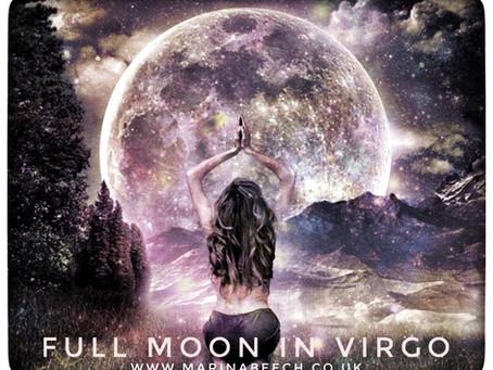Virgo Full Moon - Monday 9th 17.47 UK Time