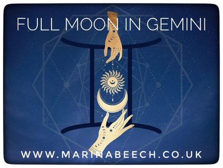 Gemini Full Moon ♊️ - Monday 30th November 9.30am UK Time