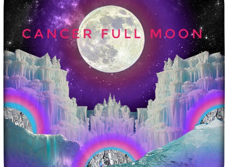 Cancer Full Moon - Friday 10th 19.21 UK Time