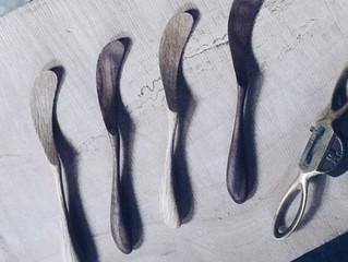 木工 バターナイフ作りのワークショップ