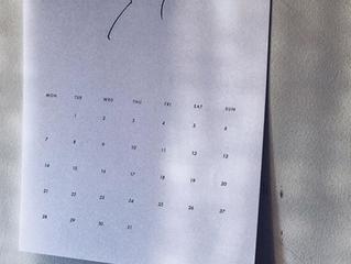 紙事 2019カレンダー