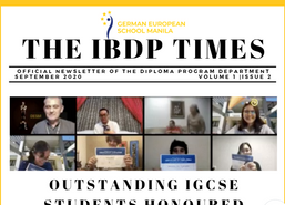 GESM's IBDP students & teachers release 2nd Newsletter issue