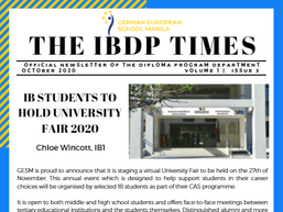 The IB Times, Vol. 1, Issue 3