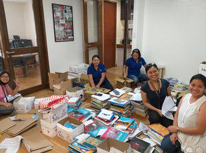 Over 1.3 tonne of school materials sent out by the GESM admin