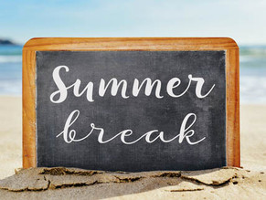 Enjoy the break! We are sad to see you go but excited to see you all come back.
