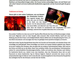"""Featured Student Work: """"Der Chinesische Neujahr"""""""