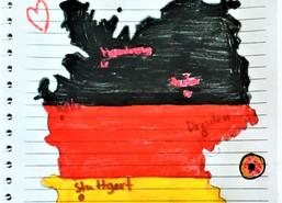 "A map of ""Deutschland"" in DaF Grade 3-I"