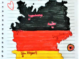 "A map of ""Deutschland"" in DaF Grade 3-I"