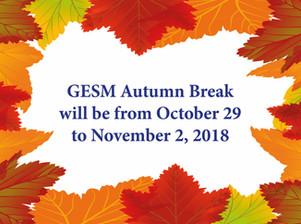 Autumn Break Advisory