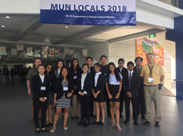 GESM's Model United Nations Group  Participates in LOCAL 2018