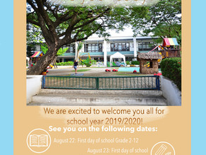 Welcome Back Students for School Year 2019/2020.