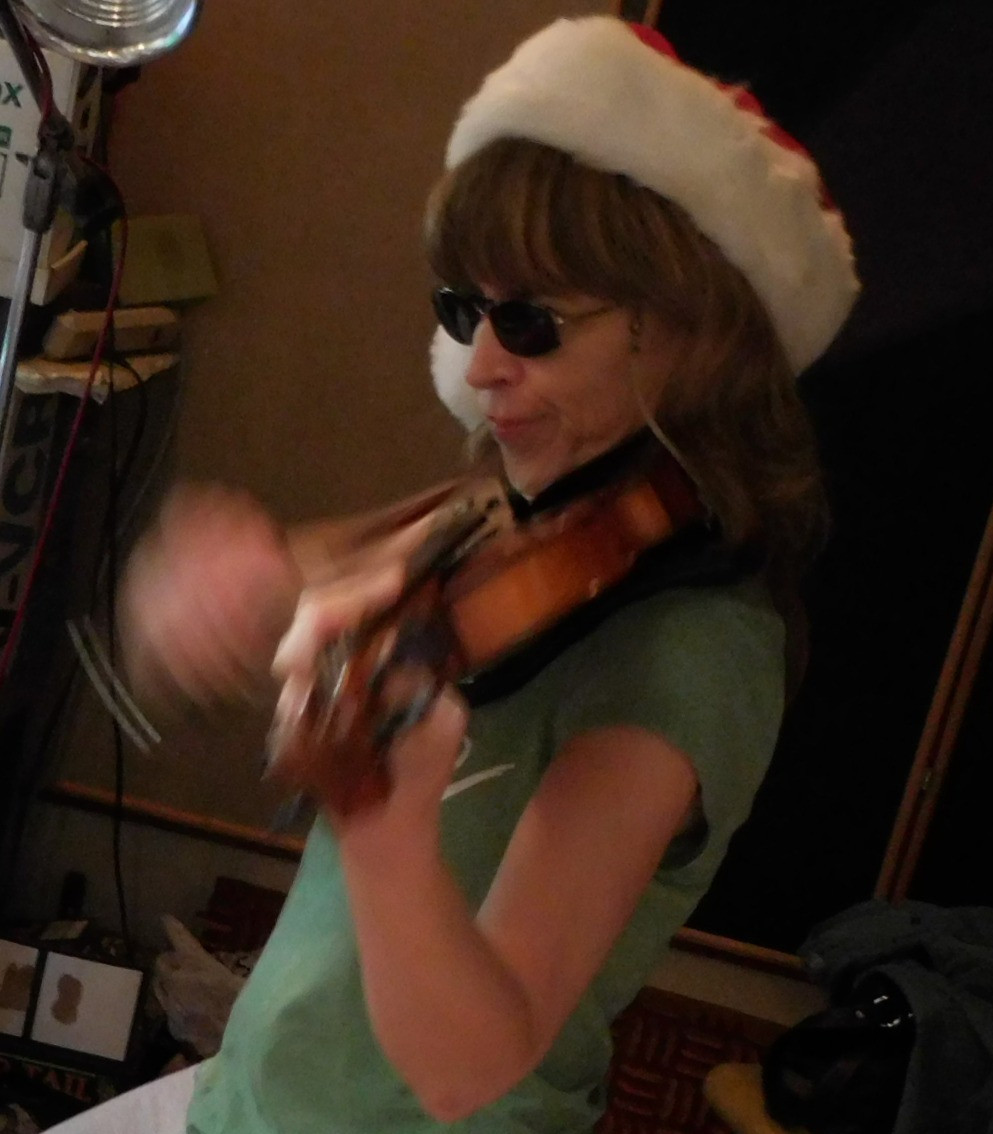 Lana in the violin booth Summer 2015