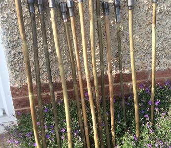 Walking sticks from Carpenters' Braces