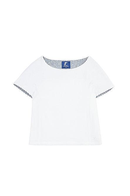 SAINT BARTH tee shirt en éponge blanc