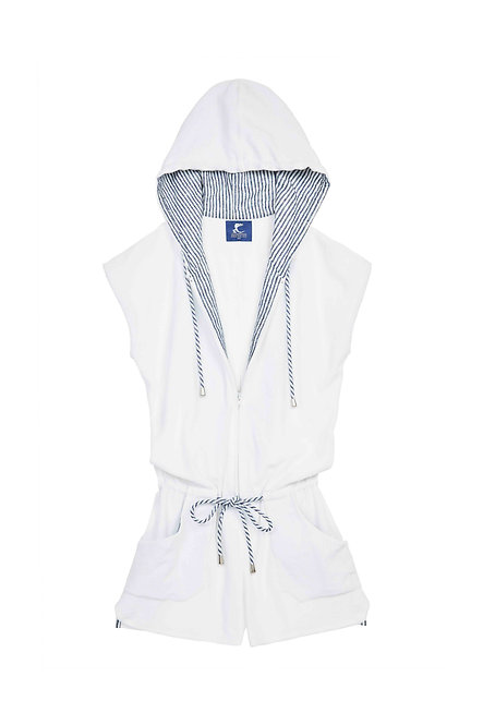 BLUE BEACH combi short éponge blanche